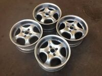 "Aluet 4x108, 16"", 7.5J deep dish ALLOY WHEELS, Original, not bbs, borbet tm"