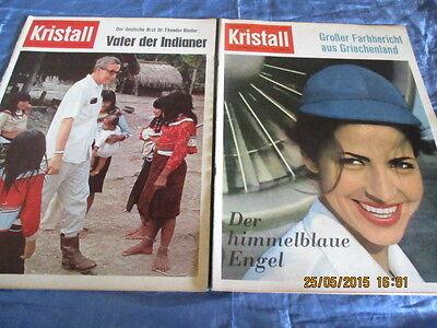 Kristall , Illustrierte / Zeitschrift 1962 , Nr. 16 + 18 , seltenes Bildmaterial