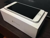 Iphone 6, unlocked, silver/white, 16 GB, mint condition