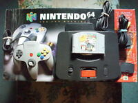 FOR SALE N,64 WITH ALL ASC.RED EXP,&2 MARIO GAMES,