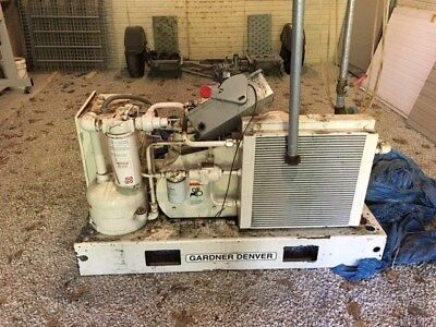 Gardner Denver 25hp Compressor Air Cooled 25hp Yr. 1997 460v Zag 7421