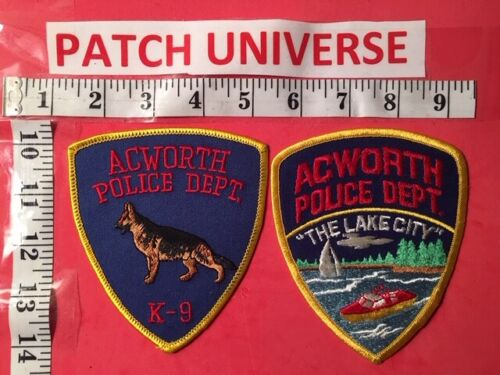 LOT OF TWO DIFFERENT ACWORTH GEORGIA POLICE  SHOULDER PATCHES  N074
