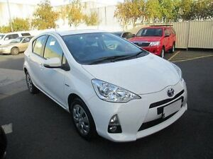 2013 Toyota Prius c NHP10R Hybrid White Continuous Variable Hatchback Moorabbin Kingston Area Preview