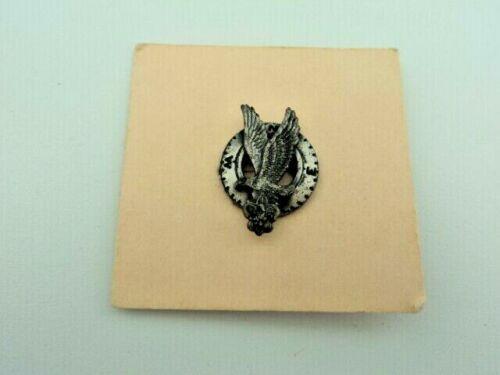 VTG Boy Scouts Explorer Sterling Silver Award Lapel Pin Flying Eagle 1954-58