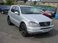 Mercedes-Benz ML 270 (2001) 88,000 mls.