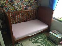 Solid Wood Cot/Childrens Bed For Sale