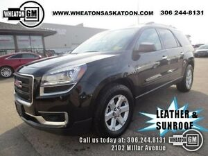 2015 GMC Acadia AWD with Heated Leather/Suede and Sunroof