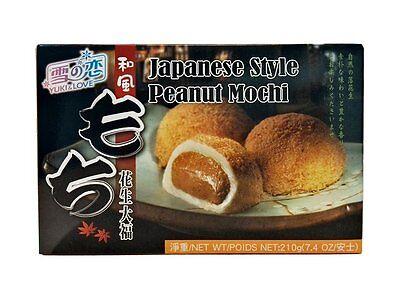 Japan Dessert (japanischer Reiskuchen Erdnuss Mochi Spezialität Nachtisch Dessert 210g)