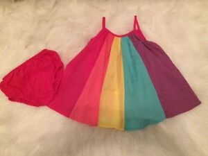 Rainbow dress and bloomers