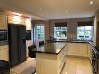 Luxury Moben Cream Kitchen with Neff Appliances and A Rangemaster all immaculate condition