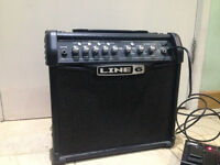 Line 6 Spider IV 15 guitar amp with FBV Express MkII Pedal