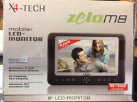 IN-CAR VIDEO MONITOR & KIT (3 AVAILABLE); VGA SCREEN WITH CHARGER UNIT, CABLES & OVER SEAT COVER