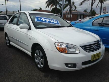 2007 Kia Cerato LD White 4 Speed Automatic Sedan