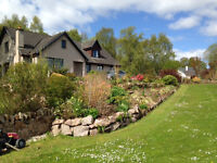 Spacious 5 bedroom family house with garage and garden to rent near Beauly
