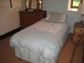 Quality single mattress with divan base