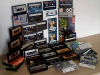 CASSETTE TAPE JOB LOT 40+ BASF MEMOREX MAXELL SCOTCH SAMSUNG EMI AGFA THORN + MANY OTHERS INCLUDED.