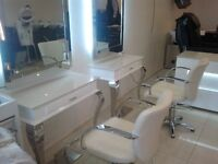 New salon furniture package reception desk nail table manicure hairdressing counter chairs
