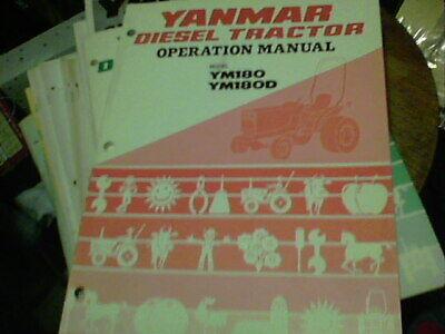 Yanmar Diesel Tractor Operation Manual Model Ym180 Ym180d