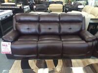 BRAND NEW LEATH-AIR 3 PC POWER ECLINING SOFA, LOVE SEAT & CHAIR