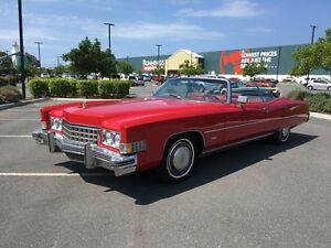 1973 Cadillac Eldorado Red Automatic Convertible Arundel Gold Coast City Preview