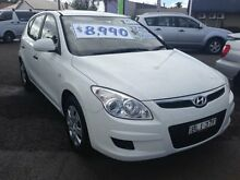2009 Hyundai i30 FD MY09 SX White 4 Speed Automatic Hatchback Broadmeadow Newcastle Area Preview