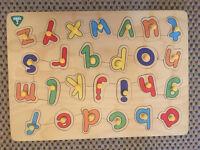 ELC wooden alphabet puzzle