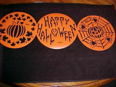 Wilton Cake Stencil 3  Halloween Stencils NEW Pumpkin Spider Happy Halloween](Halloween Spider Stencil)