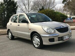 2002 Daihatsu Sirion M100RS Gold 5 Speed Manual Hatchback Somerton Park Holdfast Bay Preview