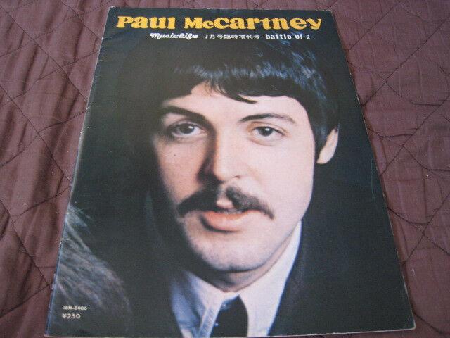 Battle of 2 Paul McCartney Scott Walker Japan Book 1966 Beatles Walker Brothers