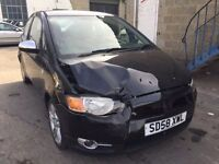 2008 Mitsubishi Colt, starts and drives well, unrecorded damage, 47,000 miles, MOT until Feb 2017