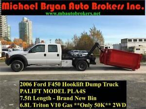 2006 FORD F450 HOOK LIFT TRUCK **ONLY 50K** VERY RARE TRUCK
