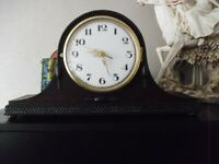 lovely vintage 1930s/40s mantle clock converted to quartz battery movement