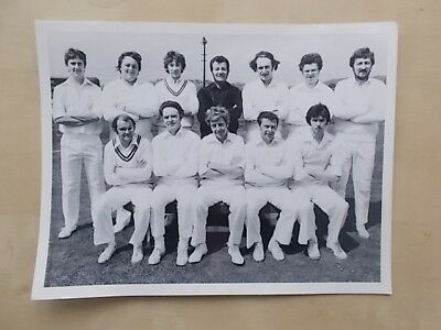 VINTAGE CRICKET TEAM PHOTOGRAPH 21cm x 16cm - SOMEWHERE IN YORKSHIRE ?
