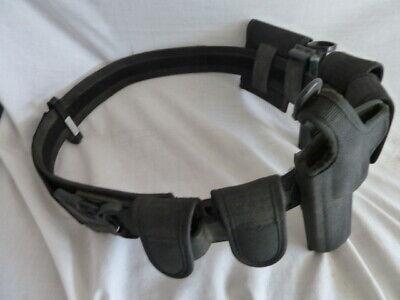 Blackhawk Black Tactical Police Belt Plus 6 Attachmnt
