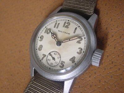 World War 2 Era Waltham U.S. Military Issue Wrist Watch ..... Cal. 6/0 - D