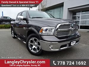 2016 RAM 1500 Laramie W/ 4X4, LEATHER & NAVIGATION