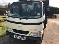 DROPSIDE TOYOTA DYNA PICK UP - top of the range,, 4 new tyres, MOT to Feb '18, excellent condition