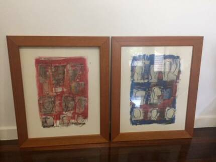 Custom framed large prints (pair) | Picture Frames | Gumtree ...