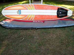 """As New"" 7'4"" Mini Mal/Funboard & Travel Cover Palm Beach Gold Coast South Preview"