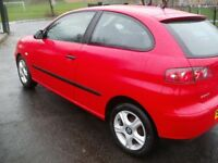 2004 Red Seat Ibiza SX 1.2 Hatchback