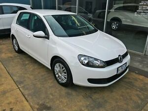 2010 Volkswagen Golf 1K MY10 77 TDI Trendline White 7 Speed Auto Direct Shift Hatchback Hobart CBD Hobart City Preview