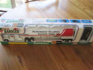 Vtg Canadian Tire Super Tanker Truck New in Box Battery Operated