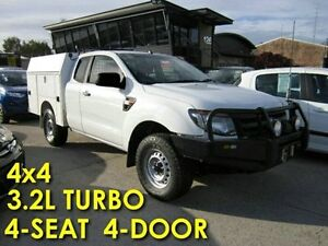 2013 Ford Ranger PX XL Super Cab White 6 Speed Manual Cab Chassis Noosaville Noosa Area Preview