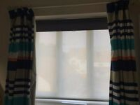 John Lewis Sheer Stripe Roller Blind, Curtain, White