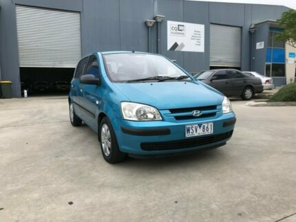 2003 Hyundai Getz TB GL Blue 4 Speed Automatic Hatchback Newport Hobsons Bay Area Preview