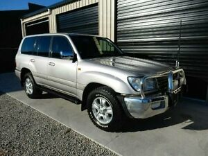 2002 Toyota Landcruiser HDJ100R Sahara Silver 5 Speed Automatic Wagon Kippa-ring Redcliffe Area Preview