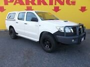 2014 Toyota Hilux KUN26R MY14 SR Double Cab White 5 Speed Manual Utility Winnellie Darwin City Preview