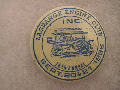 OLD VINTAGE 1986 POWER ASS'N TRACTOR PINS PINBACKS COLLECTIBLE