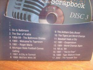 DETROIT TIGERS FANS - Ernie Harwell's 4 CD Audio Scrapbook *RARE Windsor Region Ontario image 4