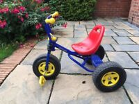 Childrens Kettler Tricycle - Blue - Good Condition
